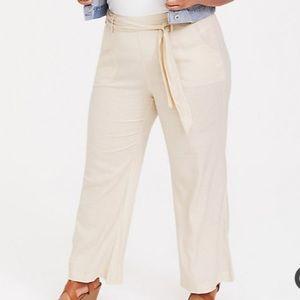 NWOT Torrid Wide Leg Linen Pants Size 24